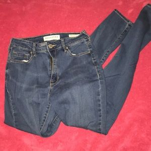 Light wash stretchy high waisted skinny jeans